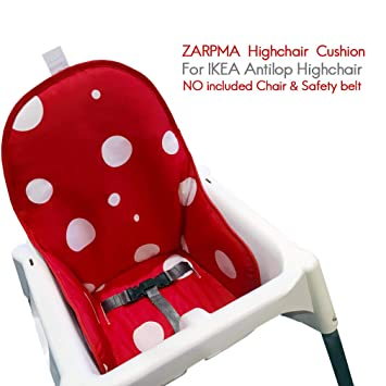 ZARPMA Cojín para bebé para Ikea Antilop Trona, Fácil de Limpiar, lavable Silla para bebé plegable Funda silla niños-No Incluye Trona y CinturóN de ...