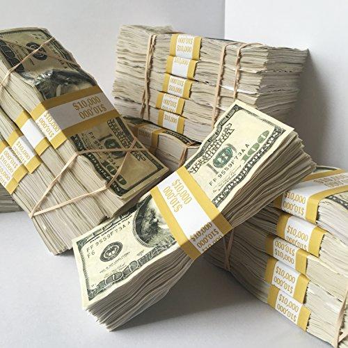 LA Prop Money $10,000 Distressed with Filler for Music Videos, Instagram, Advertising (Prop Money 100 Dollar Bills)