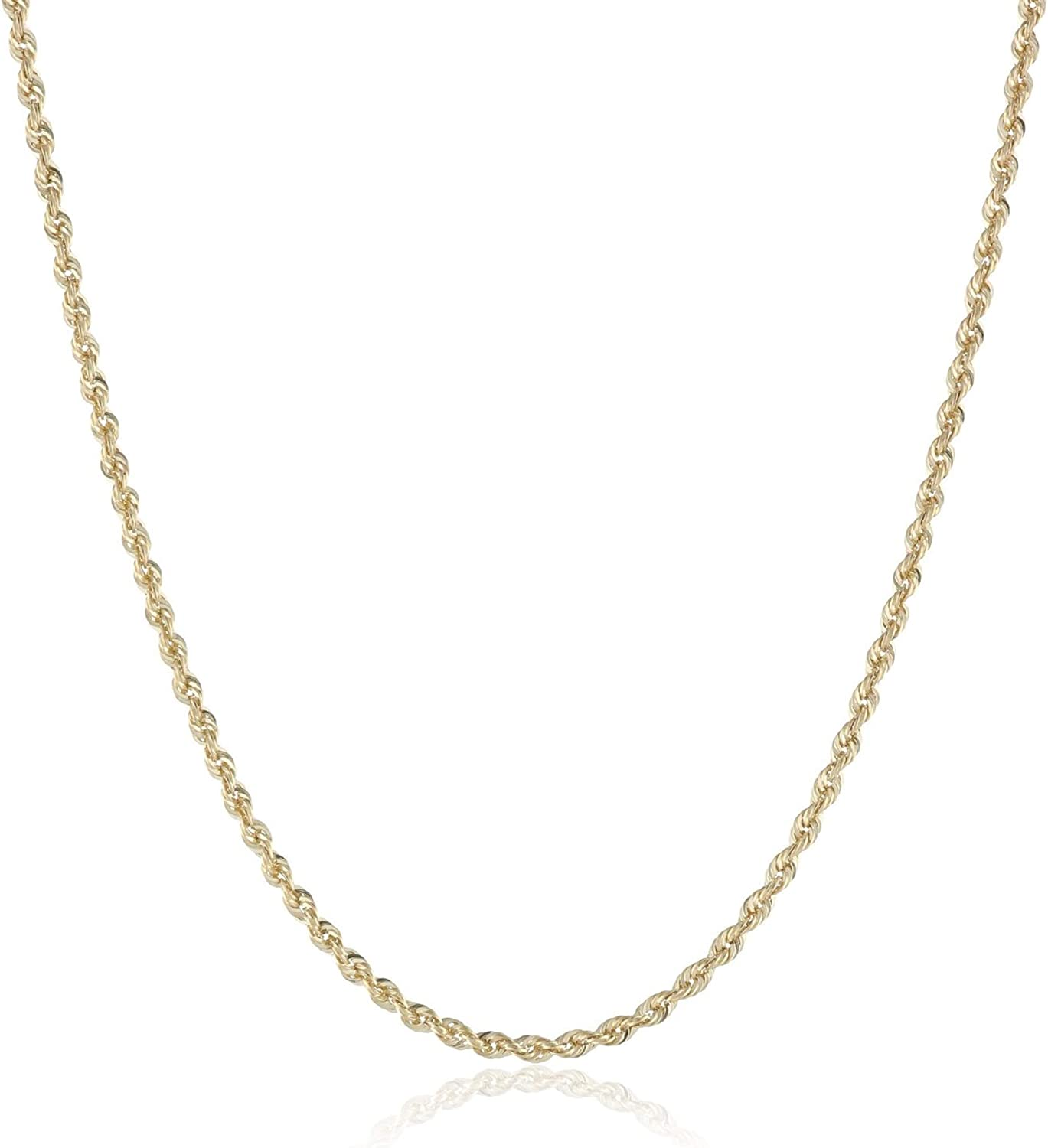 Rose Gold Plated Twist Rope Chain 1.5MM 26/'/' Chain