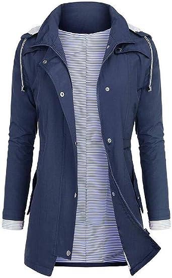 Aiserkly Womens Hoodie Raincoat Waterproof Outdoor Rain Jacket Softshell Jacket Hooded Windbreaker Windproof Overcoat for Ladies Winter Parka Outwear Plus Size 10-24 UK