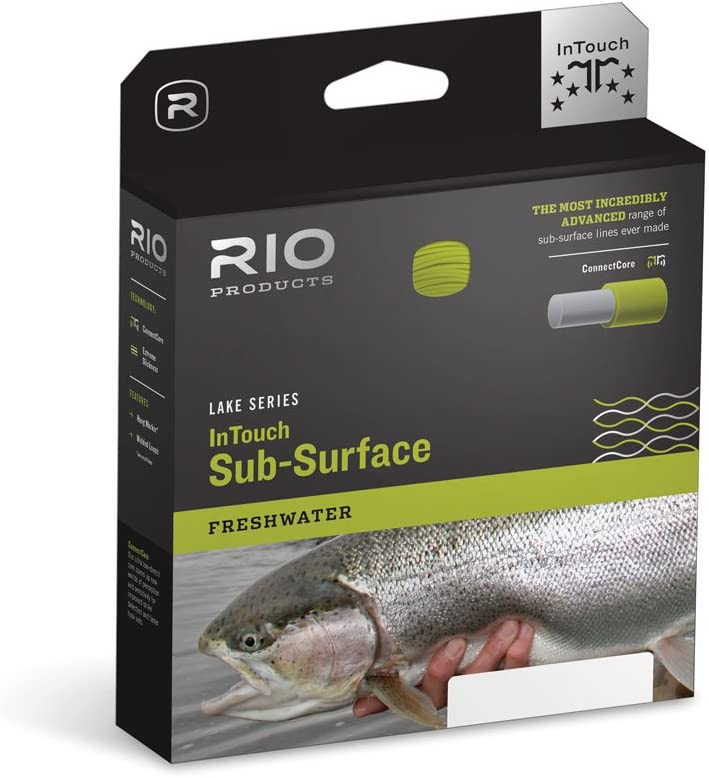RIO Fly Fishing Fly Line in-Touch Midge Tip Long Wf6F/I Fishing Line, Camo-Tip-Melon