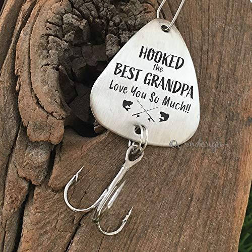 Grandpa Gift Idea - Hooked The Best Grandpa Fishing Lure - Fathers Day Best Grandpa Ever Gift For Grandpa Fishing Gift Christmas Birthday