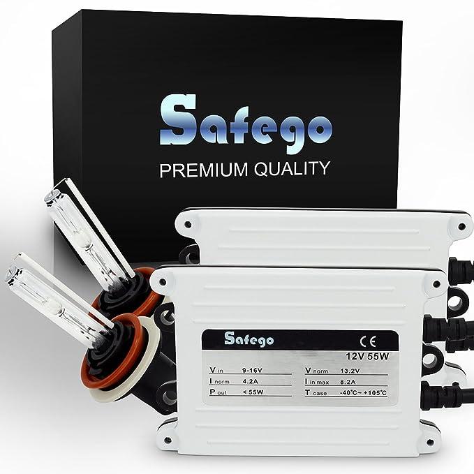 98 opinioni per Safego 55W H8 H9 H11 Retrofit Conversion Kit FARI XENO XENON HID KIT LUCI di