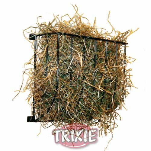- Trixie Natura Wall-Mounted Hay Rack Manger, Rabbit and Guinea Pig Feeder