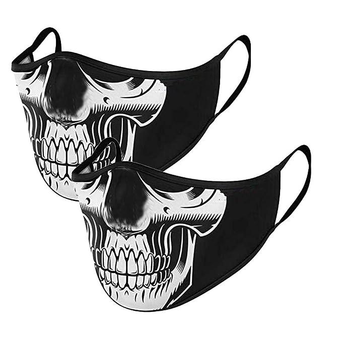5 Piezas 𝐌𝐚𝐬𝐜𝐚𝐫𝐢𝐥𝐥𝐚𝐬 Reutilizables Mujer Hombre Vintage Halloween Calavera Estampadas de Floral Transpirables Lavables Algodón Tela de Antipolvo para Unisex Adultos Protección (A): Amazon.es: Hogar