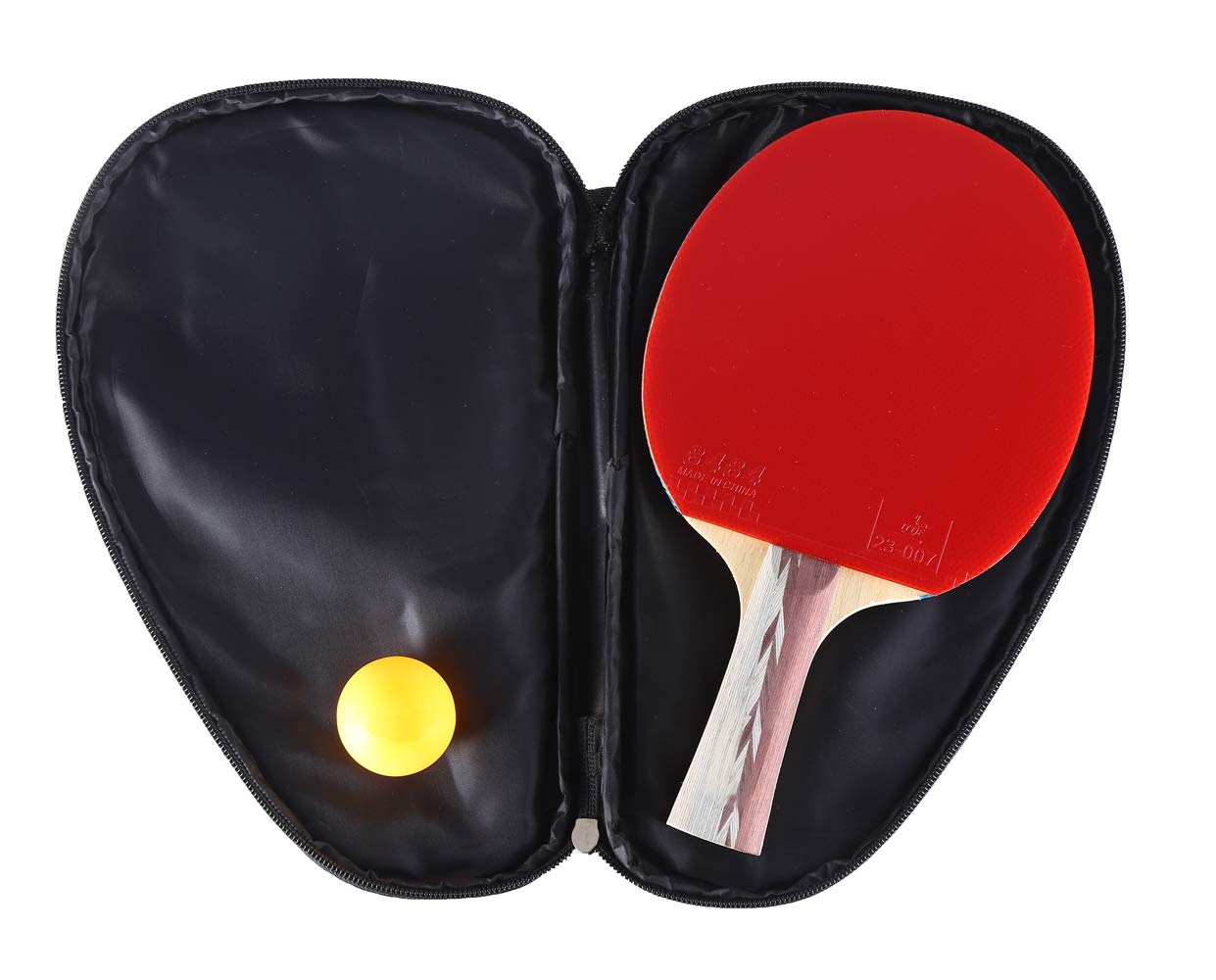 POPHN 5 Star Table Tennis Paddle Professional Ping Pong Racket with Racket Case and 1 Table Tennis Balls for Professional Player SZHNGC