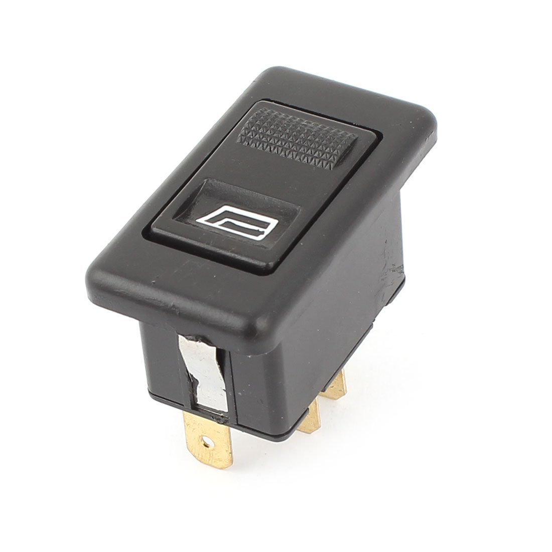 Black 5 Pins Push in Window Glass Lift Switch DC 12V for Car uxcell a14102400ux0724