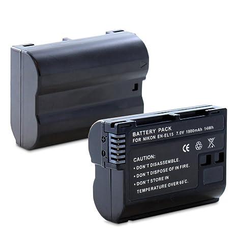 Fosmon - Batería EN-EL15 Li-Ion para cámaras réflex Digitales ...