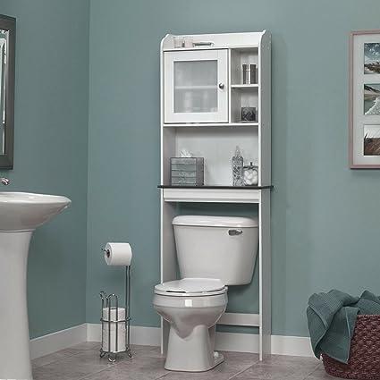 Amazon.com: Wood Bathroom Cabinet Over Toilet Spacesaver Storage ...