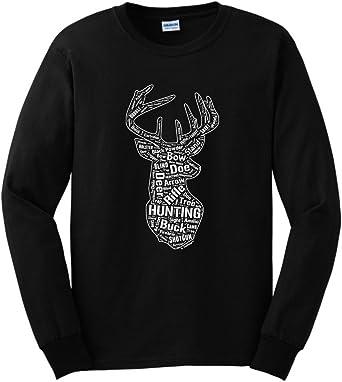 La montaña adulto Patriótico Buck Animal Manga Larga Camiseta