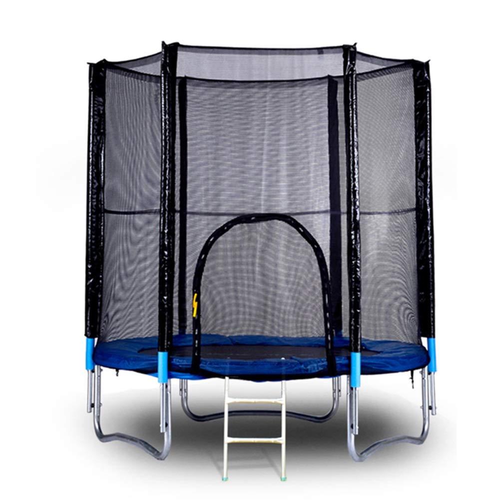 8 Fuß Trampolin mit Handlauf und Leiter, Safe Elastic Band Rebounder Fitnesstrainer für Kinder oder Erwachsene 96 Zoll
