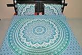 Reversible Ombre Mandala DUVET COVER By Jaipur Handloom, Ombre mandala quilt cover, Donna Cover Bedding Coverlet comforter Quilt cover (Green)