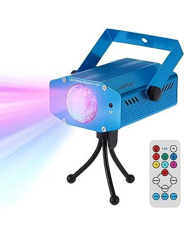 Lixada Mini Disco Luz, 9W RGBW Color que Cambia la Luz de Escenario LED,