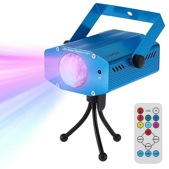 Lixada Disco Lichteffekte, Disco Licht mit Fernbedienung und Musikgesteuert 9W Bühnenbeleuchtung DJ Partylicht mit Farbwechse