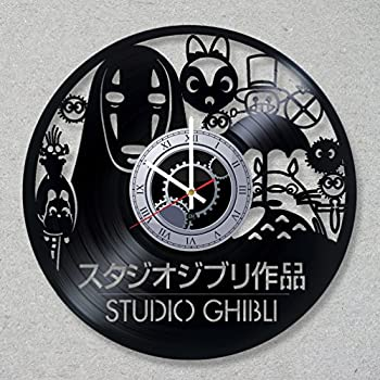 Vinyl Record Wall Clock Ghibli Studio Totoro Spirited Away Manga decor unique gift ideas for friends him her boys girls World Art Design