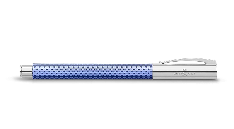 Faber-Castell 149680 Stylo plume AMBITION OpArt bleu Lagoon plume M