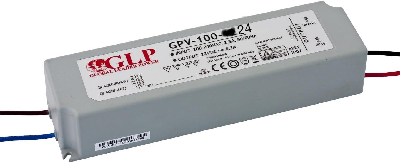 24V 100W Tira LED Driver GPV de 100–24fuente de alimentación conmutada IP67Fuente Transformador