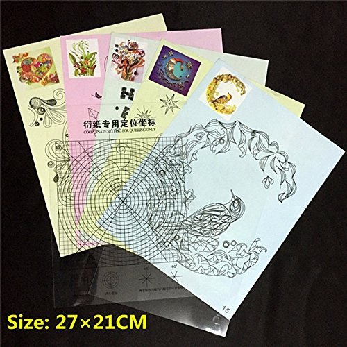 16pcs 32 Quilling Pattern Template DIY Quilling Paper Tools with Locating Paper