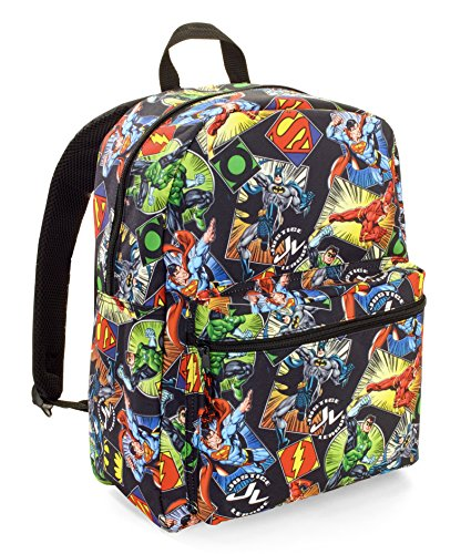 Superman Backpack (DC Comics Justice League Comic Backpack Full Size 16