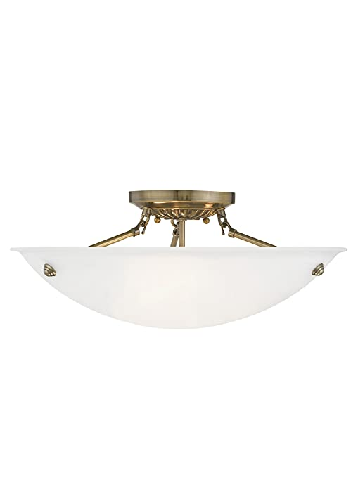 Amazon.com: livex iluminación 4274 Oasis 3 luz Semi-Flush ...