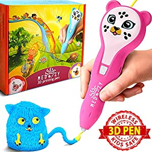 Girl Gifts - Girl Toys Art Set - Birthday Gifts for Girls Boys - Best 3D Pen for Kids Teen - Fun Educational Learning Toys for Girls Boys Kids - Cool Stem Presents Craft Kits with Cute Animal Stickers