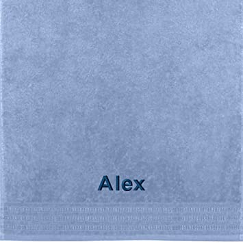 Erwin Müller Toalla con nombres Alex bordado, azul claro, 50 x 100 cm: Erwin Müller: Amazon.es: Hogar