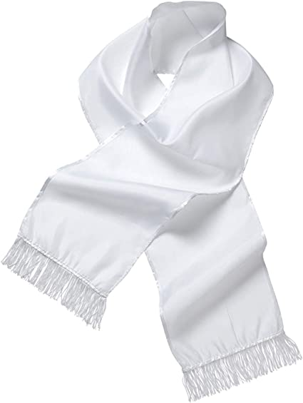 Da Uomo ANNI 1920 Gangster Costume Sciarpa Bianco