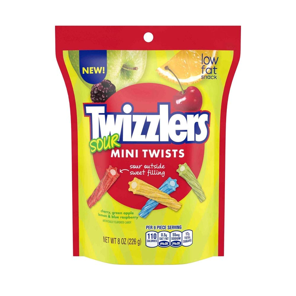 Twizzlers Sour Mini Twists Candy (Pack of 10) by Generic