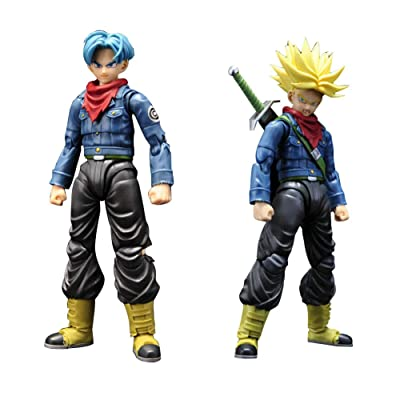 Chutoral Dragonball Z Figures, Trunks Action Figure Nendoroid PVC Figure for Anime Fans Collection, 15cm: Sports & Outdoors