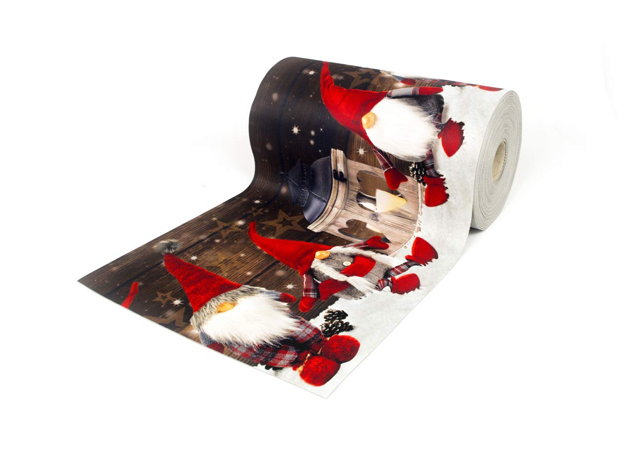 BIANCHERIAWEB Tappeto Passatoia Antiscivolo con Stampa Digitale Dis. Elfo Colore Neve 50x90 Neve COINGROSTEX
