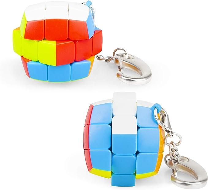 Amazon.com: Ganowo - Mini cubo de 3 x 3 velocidades, llavero ...