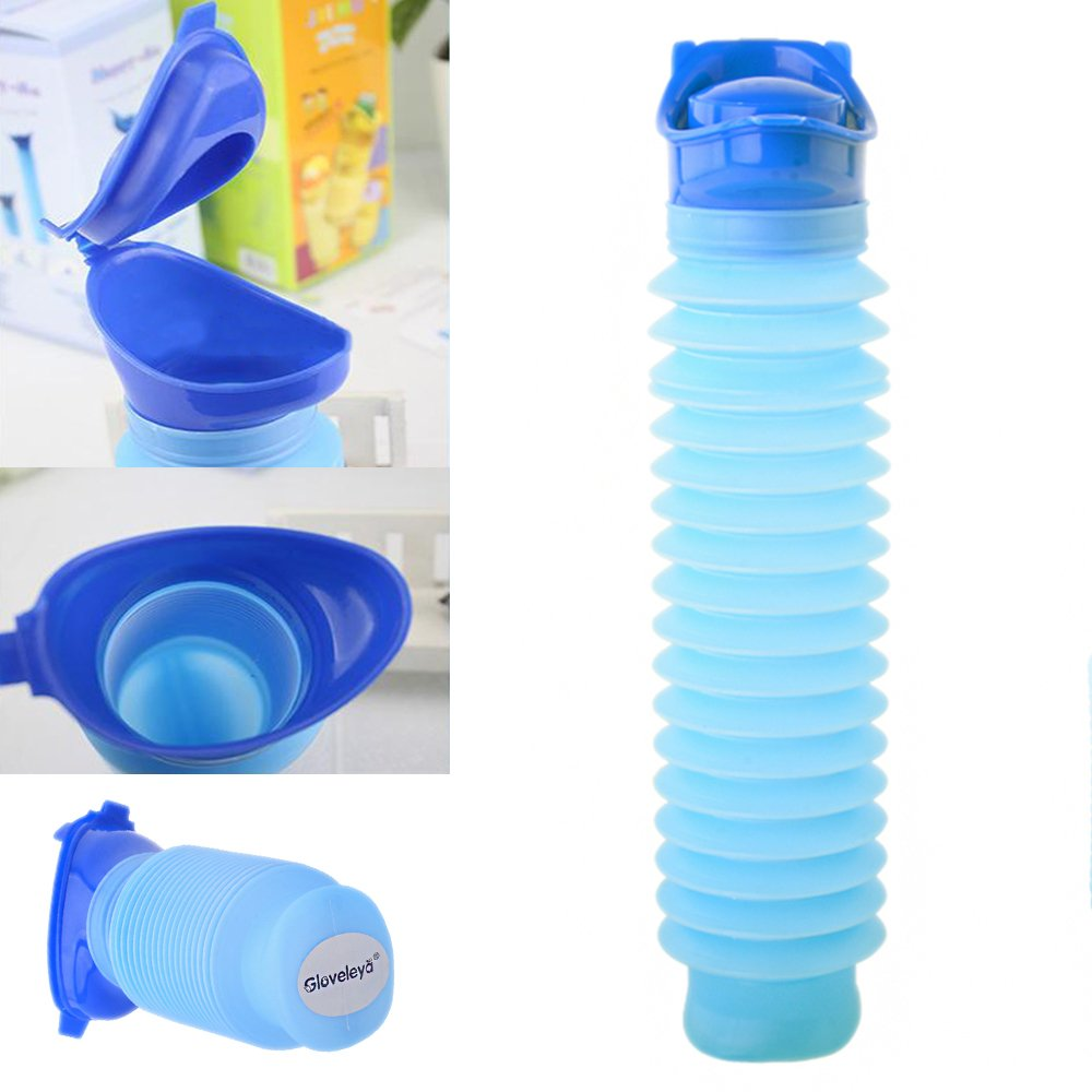 Gloveleya Male Portable Travel Urinals Men's Potty Hospital Plastic Pee Bottle 1000ML C0439-1000