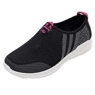 Cinnamou Antideslizante Zapatos Zapatillas Deportivas de Mujer, Respirable Mocasines Calzado Casuales De los Mujeres Zapatillas de Estar por casa Mujer ...