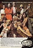 1968 Bulova Calendar Watch: 12 Moving Parts, Calendar Girls, Bulova Watch Company Print Ad