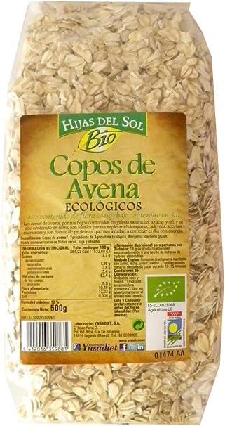 Hijas Del Sol Bio Copos Avena Bio - 500 gr: Amazon.es ...