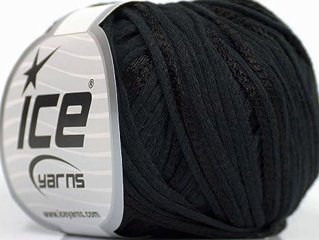 Lot de 6 madejas de hilos verano (79% algodón 21% viscosa hilo), color negro: Amazon.es: Juguetes y juegos