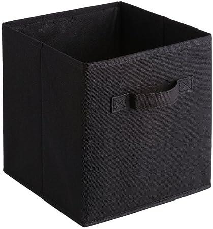Gome-z - Cubo de almacenamiento plegable de tela no tejida para libros, ropa interior, sujetador, calcetines, ropa, organizador, juguetes, caja de almacenamiento, grandes cestas: Amazon.es: Hogar