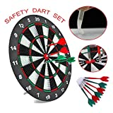 Soft Tip Dartboard with 6 Soft Safety Darts Great for Office and Family Time