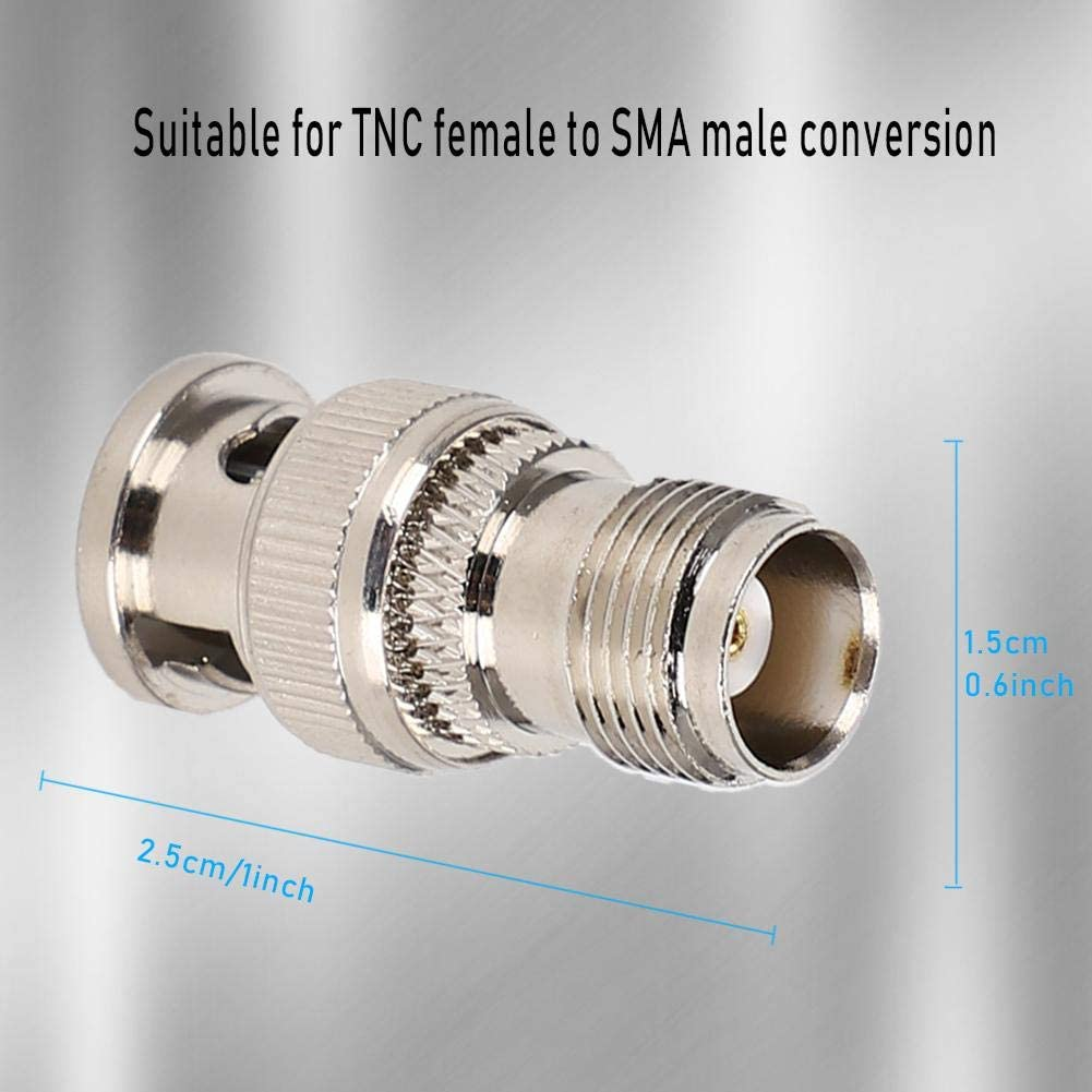 Coaxial Cable 2pcs BNC Male to TNC Female Connector RF Radio Antenna Coaxial Adapter Converter for RF Applications Wireless LAN Equipment etc