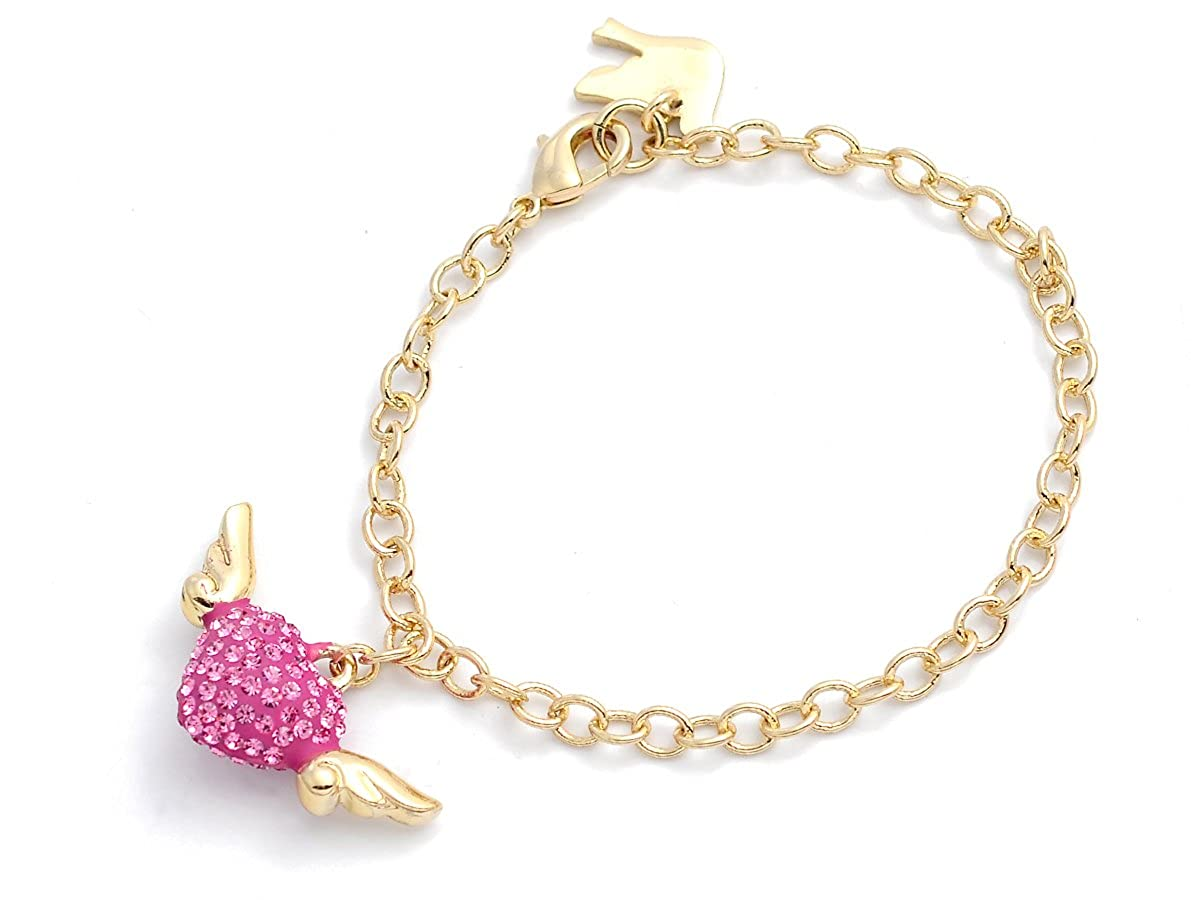 Girl Nation Dazzle Girl Collection Crystal Adorned Wings of Love Group in Princess Pink