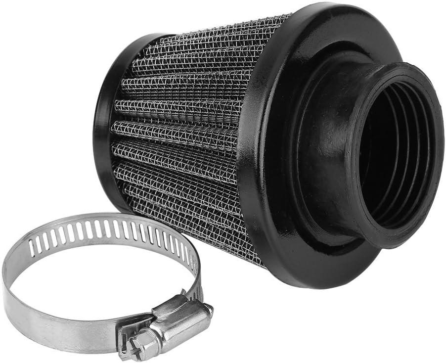 Kit de filtro de admisión de aire de abrazadera para motocicleta, 38mm Universal Filtro de aire de admisión para Scooter Atv Dirt Pit Bike(Negro): Amazon.es: Coche y moto