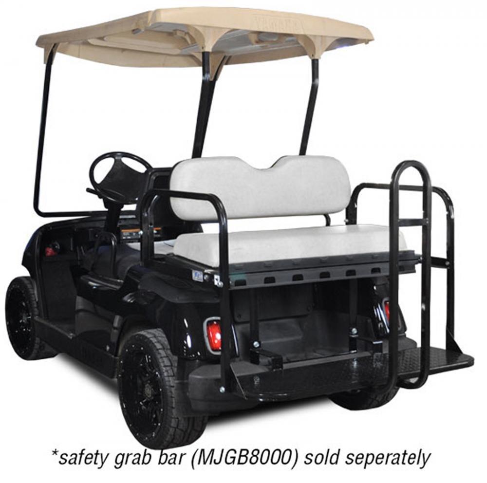 Madjax 01-014 Genesis 150 Rear Flip Seat Kit for Yamaha G14, G16, G19, G22 Golf Carts Tan Cushions