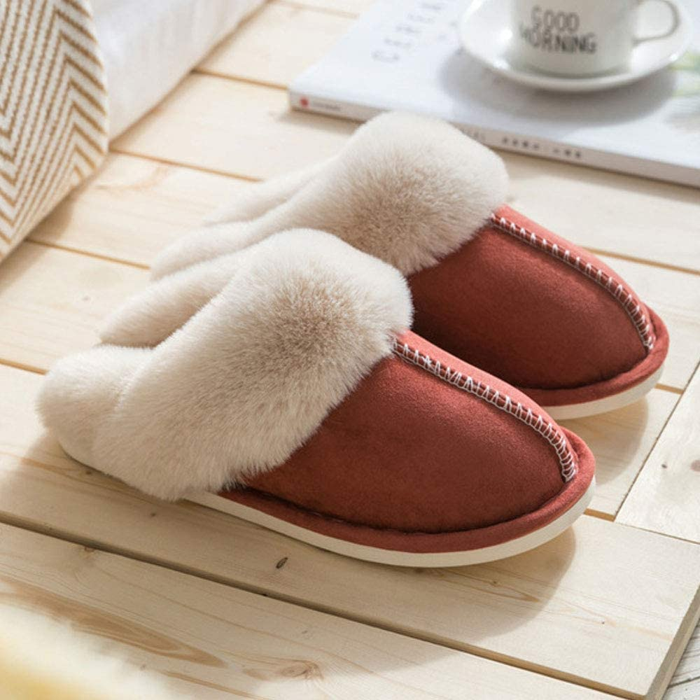 Qazxcv Womens Confinement Shoes Slippers Fur Slippers Ladies House Bedroom Shoes With Anti Slip Sole For Indoor Outdoor D 36 Amazon Co Uk Kitchen Home