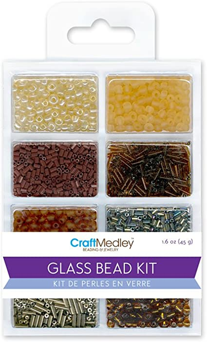 Nuggets 45g Multicraft Imports Glass Bead Kit Rocailles//Seed//Bugles