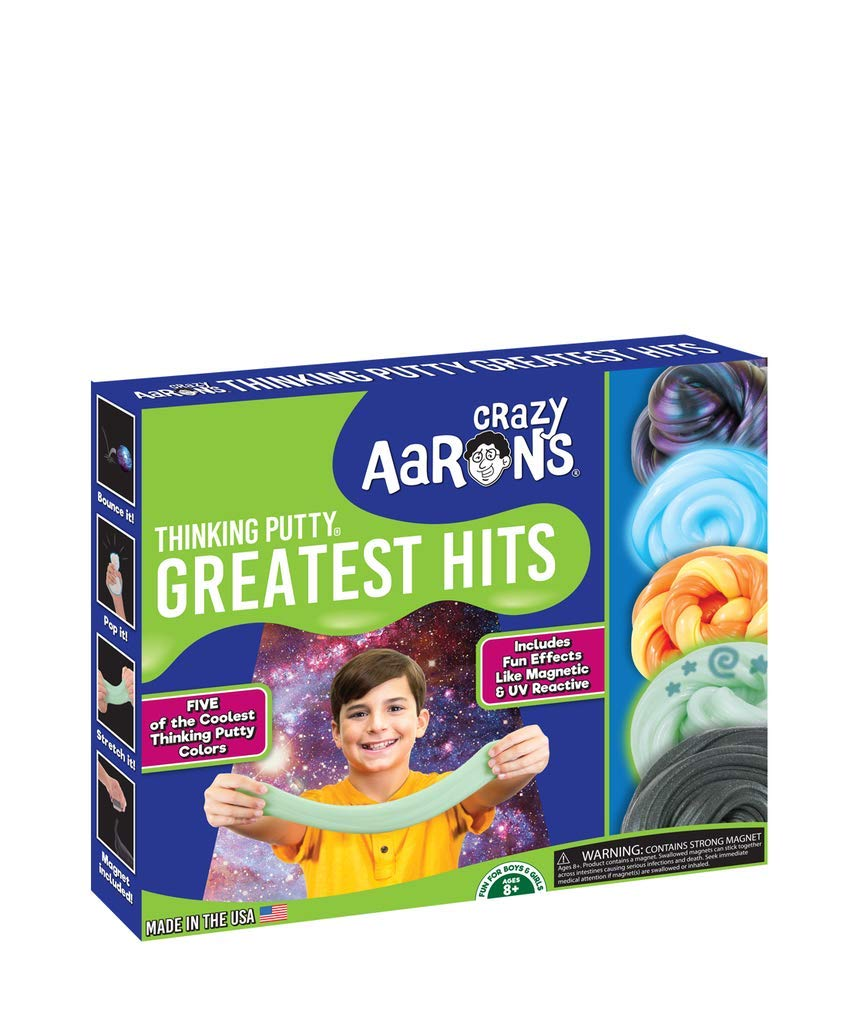 Crazy Aaron's Thinking Putty Greatest Hits Set Strange Attractor, Foxfire, Sunburst, Ion, Super Scarab