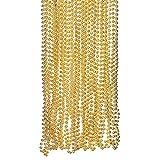 Fun Express Light Gold Plastic Metallic Bead Necklaces (4 Dozen)