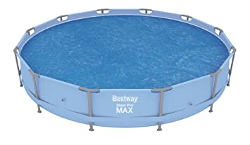 Bestway 58242 - Cobertor solar para piscinas Steel Pro, Fast Set, Hydrium
