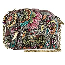 Elephant Dance Beaded Evening Handbag