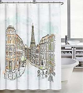 Amazon Com Tahari Paris Street In Color Fabric Shower