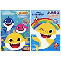Bendon Baby Shark Jumbo Coloring Book and Activity Book (2 Book Set ~ 80 Page Each) *